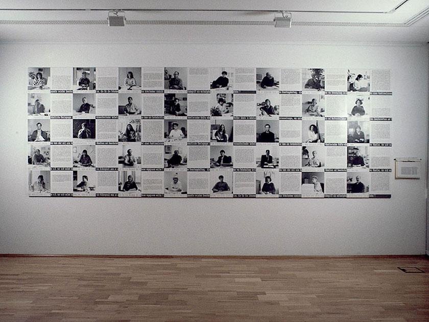 H rner antlfinger 40 gespr che ber kunst und arbeit for Mitarbeiter fotowand