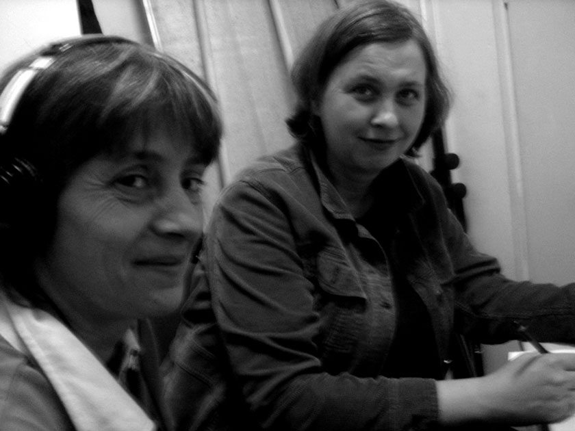 Jenia Georgieva and Ute Hörner in the Translators Cabine.