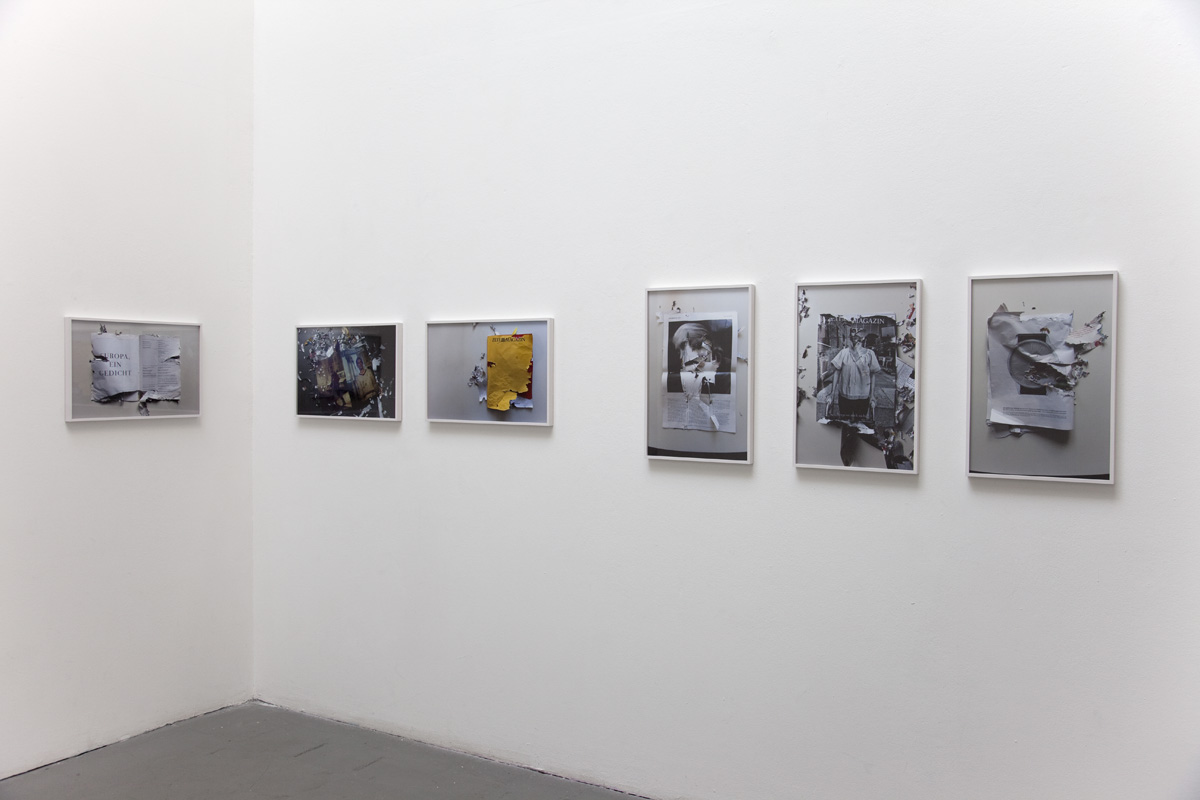 Installation view: we, animals – biographies, Meinblau, Berlin