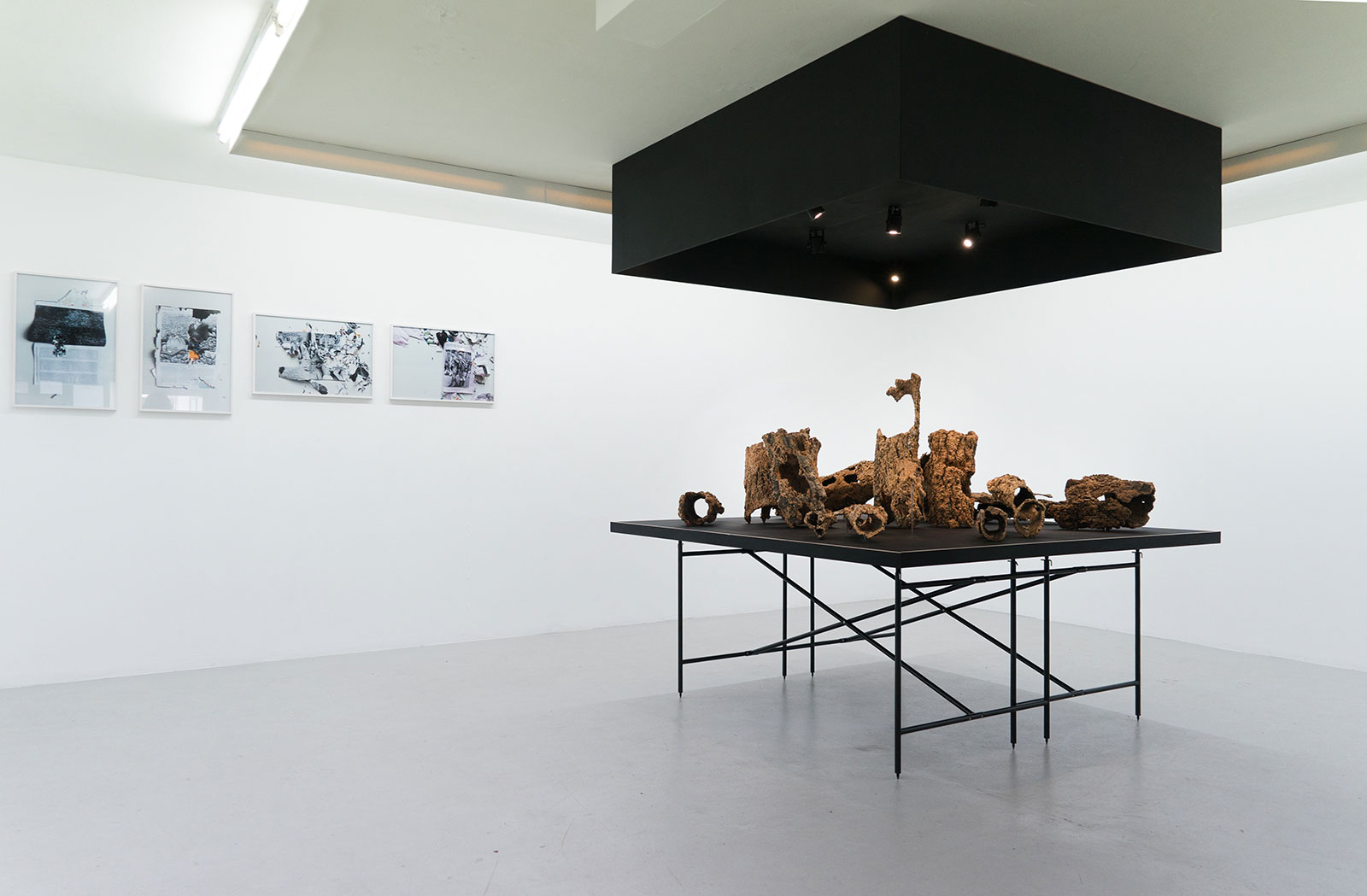 Installation view: THE WORLD WE LIVE IN, kjubh kunstverein, Köln