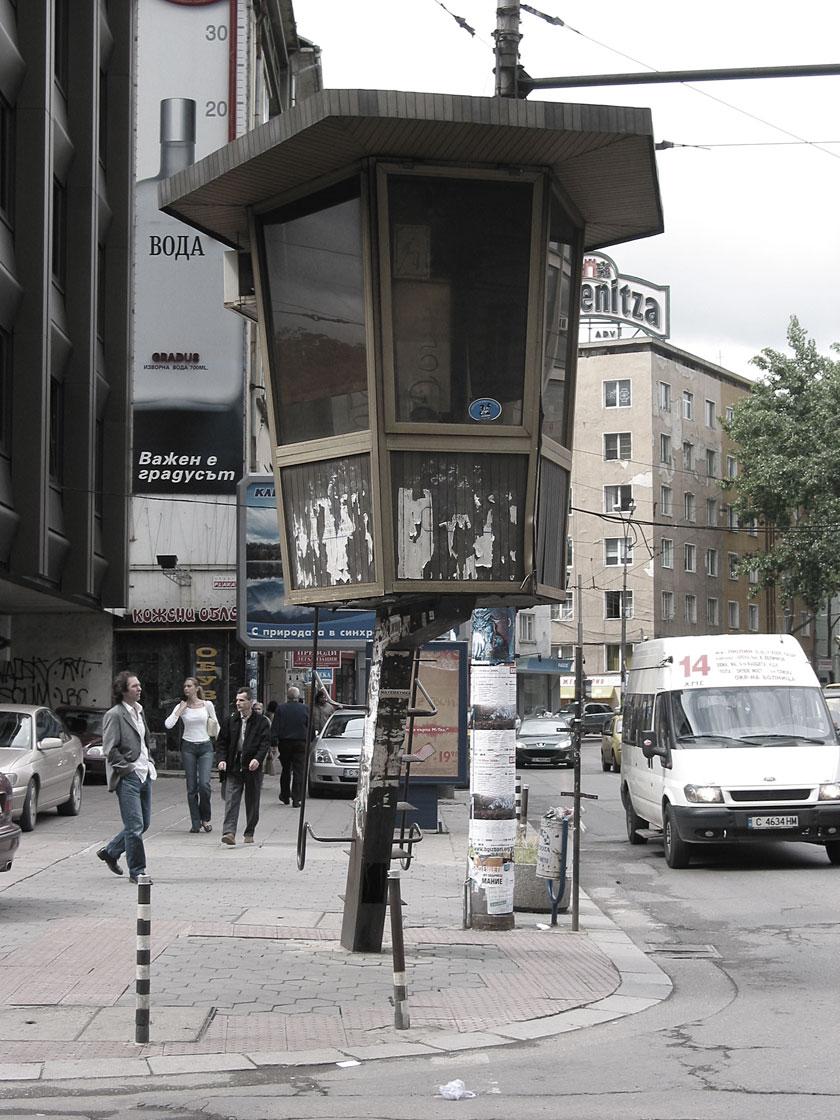 Traffic surveillance tower in Sofia, Bulgaria