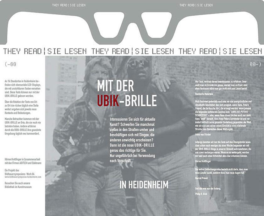 UBIK-Brille (zum abreißen)