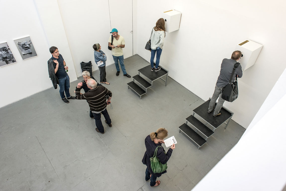 """Installation View, """"we, animals – biographies"""", Meinblau Project Space, Berlin"""