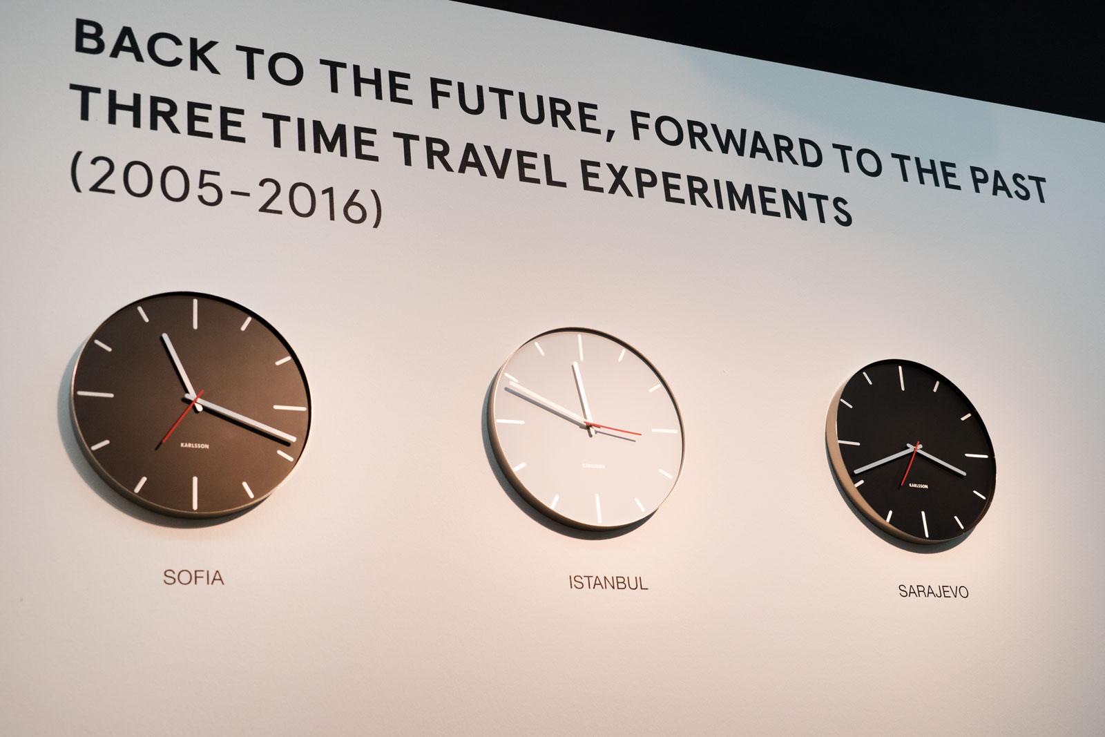 SOFIA ISTANBUL SARAJEVO, 3 manipulated clocks, 2016